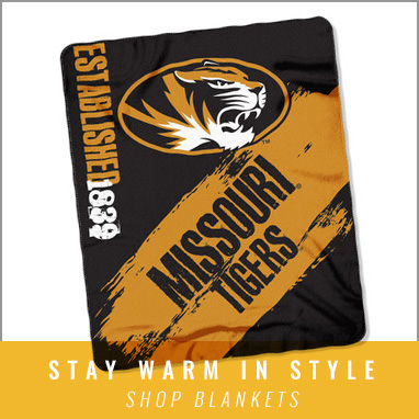 Cozy up with Mizzou blankets