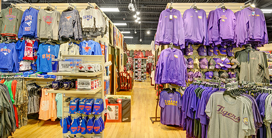 SMU and LSU Apparel and Gear