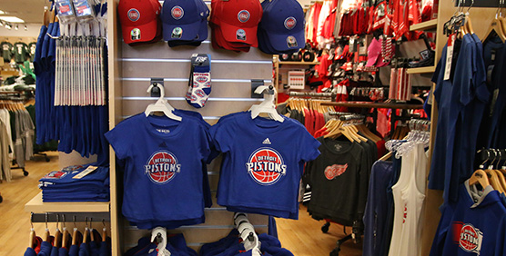 Detroit Pistons Apparel and Gear
