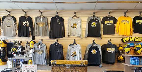 Wichita State store section in Rally House Wichita West