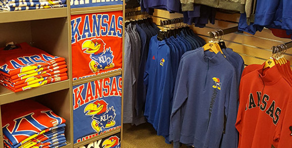 KU store section in Rally House Wichita West