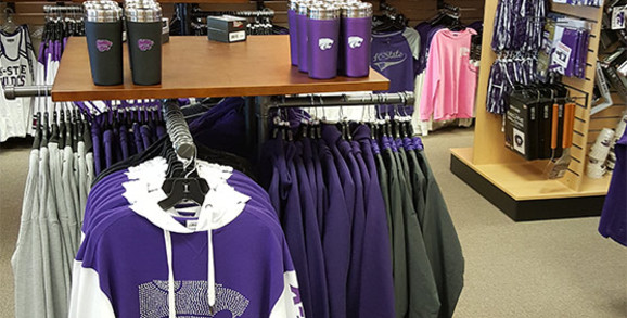 K-State store section in Rally House Wichita West