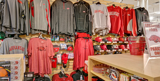 Arkansas Razorbacks apparel and gear