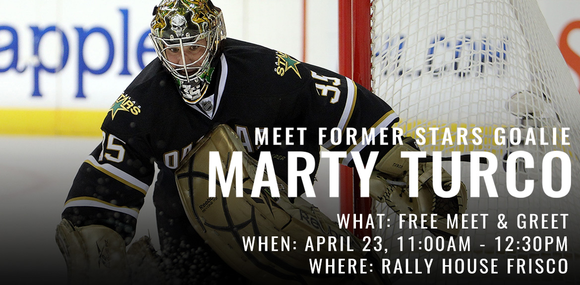 Meet former Stars Goalie Marty Turco