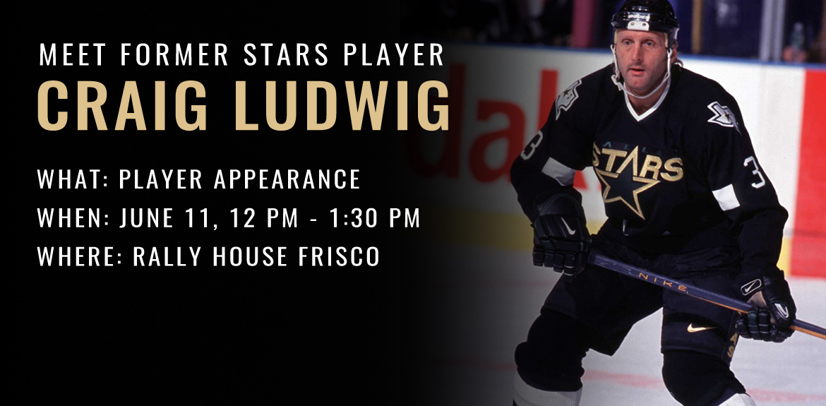 Meet former Stars Player Craig Ludwig