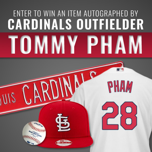 Win Autographed Item by Cardinals Outfielder Tommy Pham