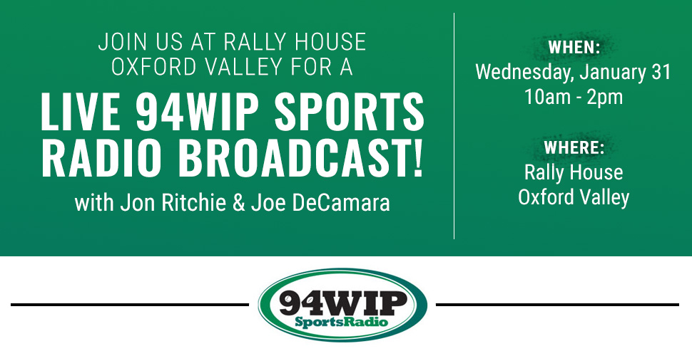 Live Broadcast with Jon Ritchie & Joe DeCamara of 94WIP