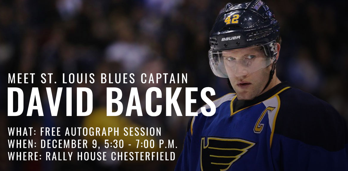 Free Autograph Session with David Backes