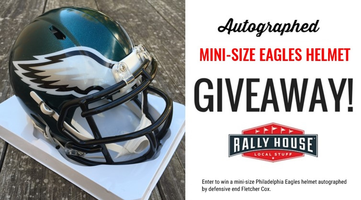 Win an autographed mini-sized Eagles helmet