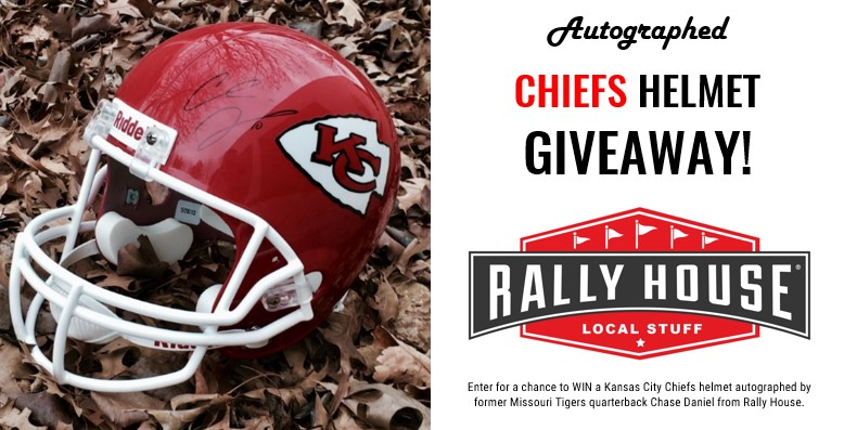 Chiefs Helmet Autographed by Chase Daniel