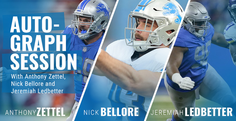 Autograph Session with Anthony Zettel, Nick Bellore & Jeremiah Ledbetter