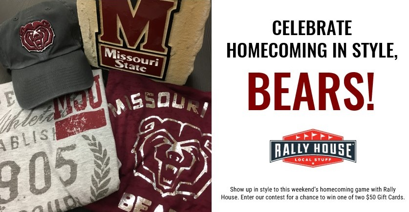 Win a $50 Gift Card from Rally House Springfield! Go Bears!