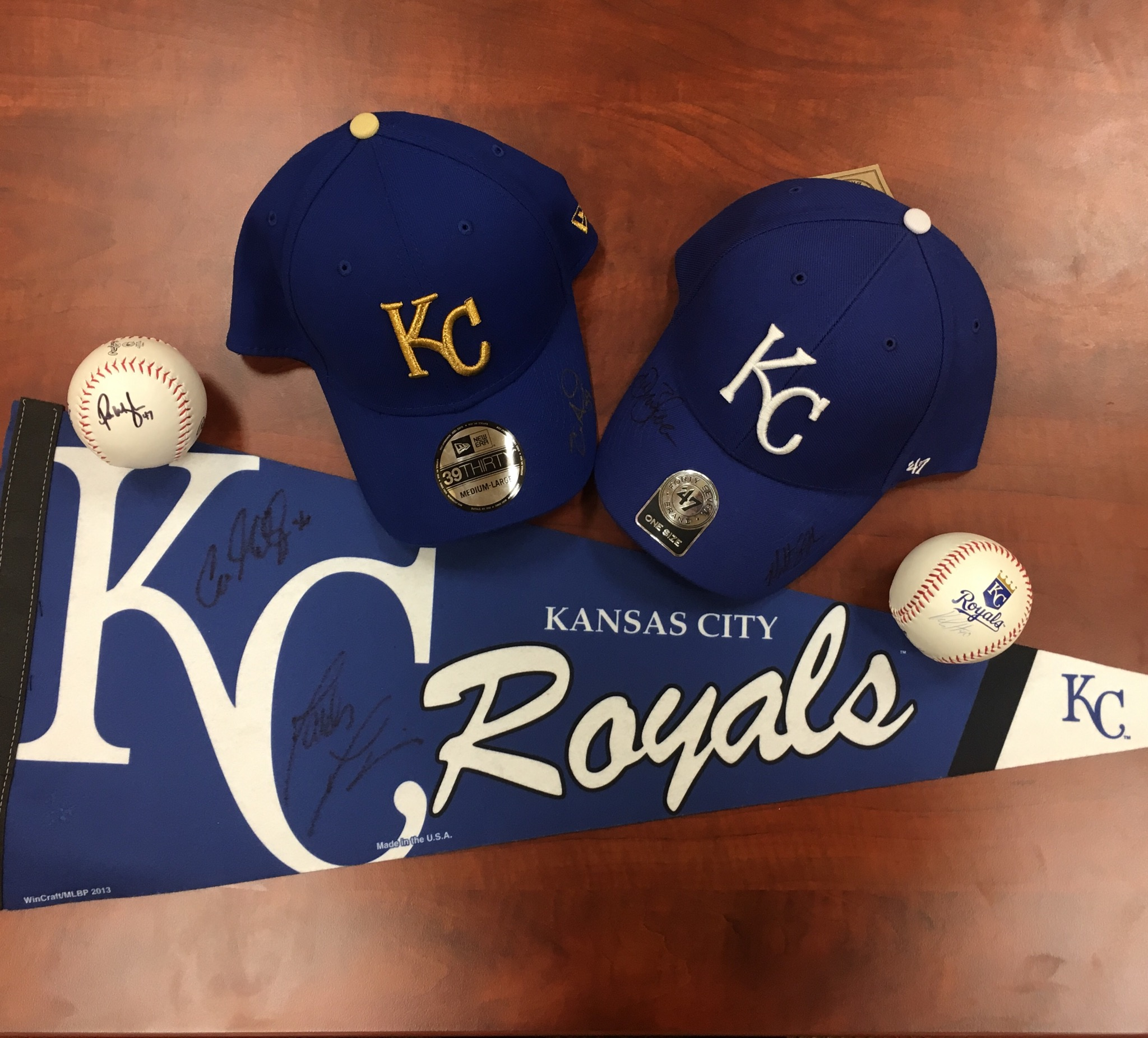 WIN one of five autographed Kansas City Royals items