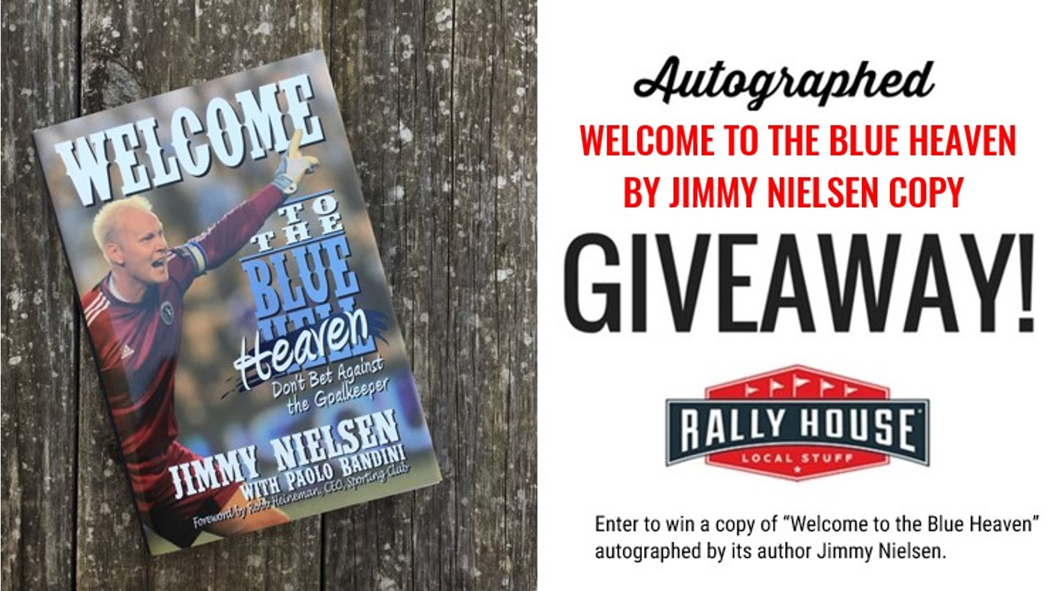 Win an autographed copy of 'Welcome to the Blue Heaven'