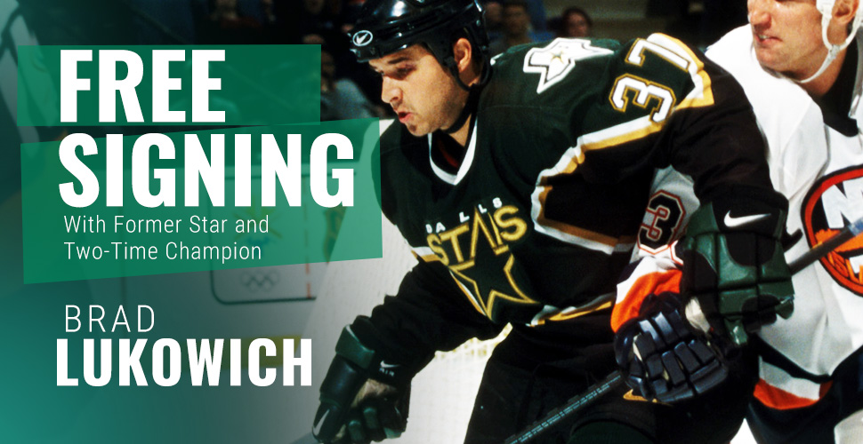 Free Signing with Former Star Brad Lukowich