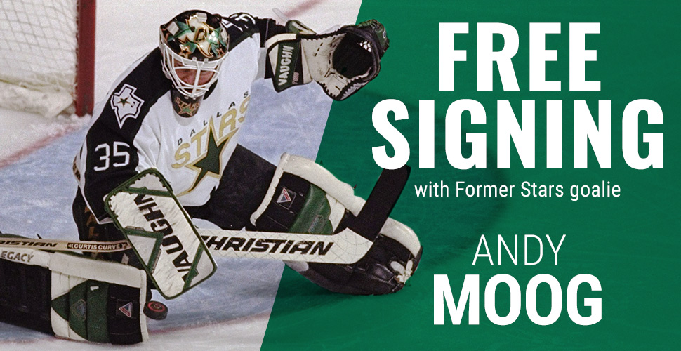 Free Signing with Former Star Andy Moog