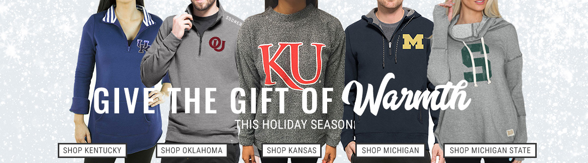 Give the Gift of Warmth with NCAA Sweatshirts & Sweaters!