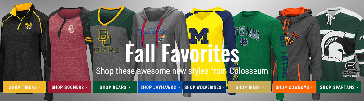 Shop Colosseum New Arrivals for Your Favorite College Teams at Rally House!