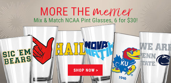 Great Gift Idea! Shop Mix & Match 6 for $30 College Pint Glasses