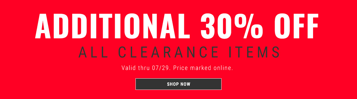 Additional 30% off Clearance