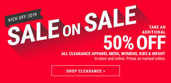 Take an Additional 50% off Clearance!