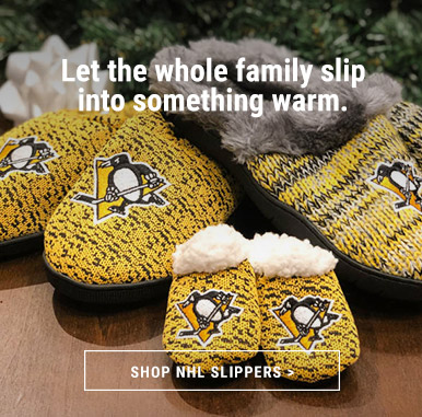 Slip into Warm NHL Slippers