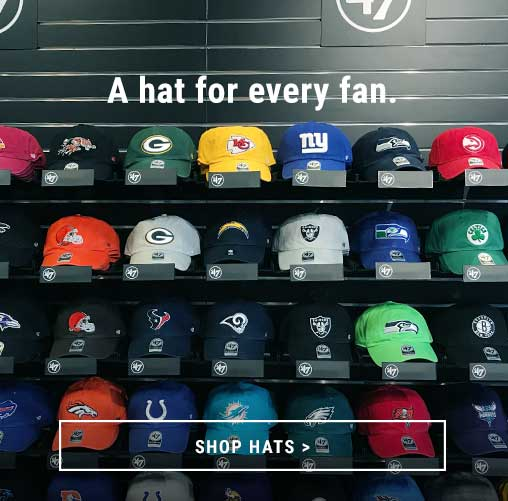 Shop Local College, NFL, MLB, NBA, MLS, NHL and Regional