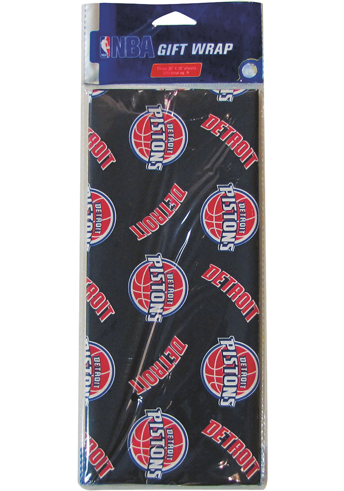 Detroit Pistons Sheets Wrapping Paper - Image 1
