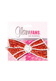 Oklahoma Sooners Kids Sequin Bow Snap Clip Hair Barrette - Crimson
