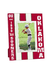 Oklahoma Sooners Stripped Picture Frame