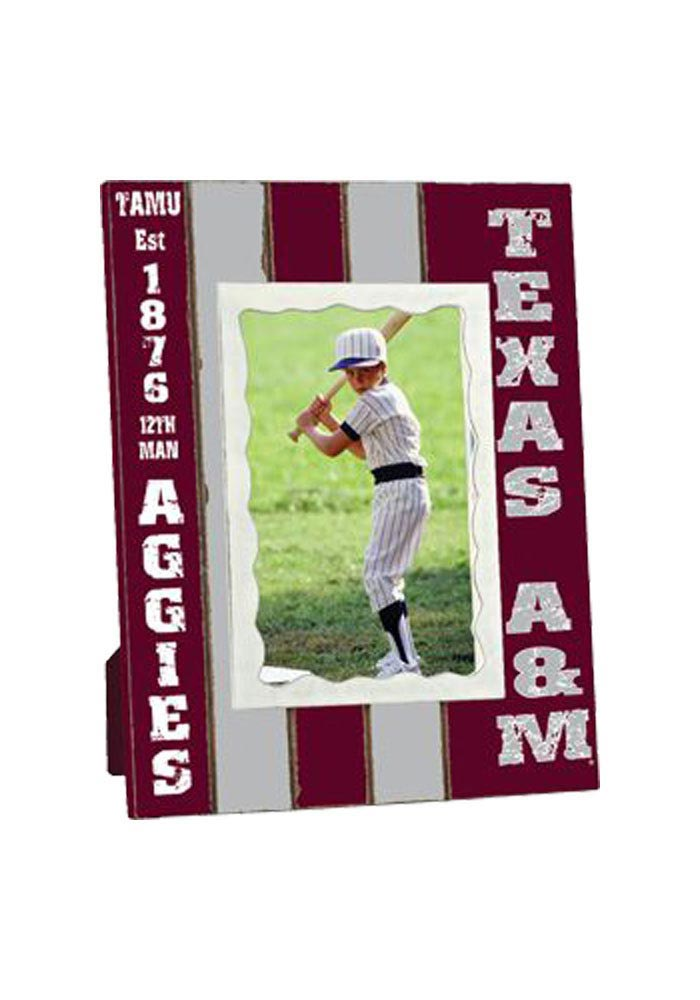 Texas A&M Aggies Stripped Picture Frame - Image 1