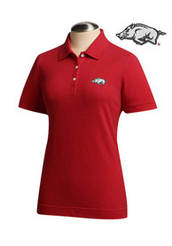 Cutter and Buck Arkansas Razorbacks Womens Brown Ace Polo