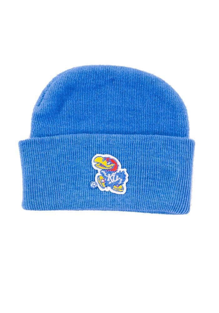 Kansas Jayhawks Cuffed Newborn Knit Hat - Blue
