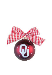 Oklahoma Sooners Polka Dot Ornament