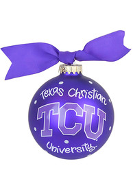 TCU Horned Frogs Polka Dot Ornament