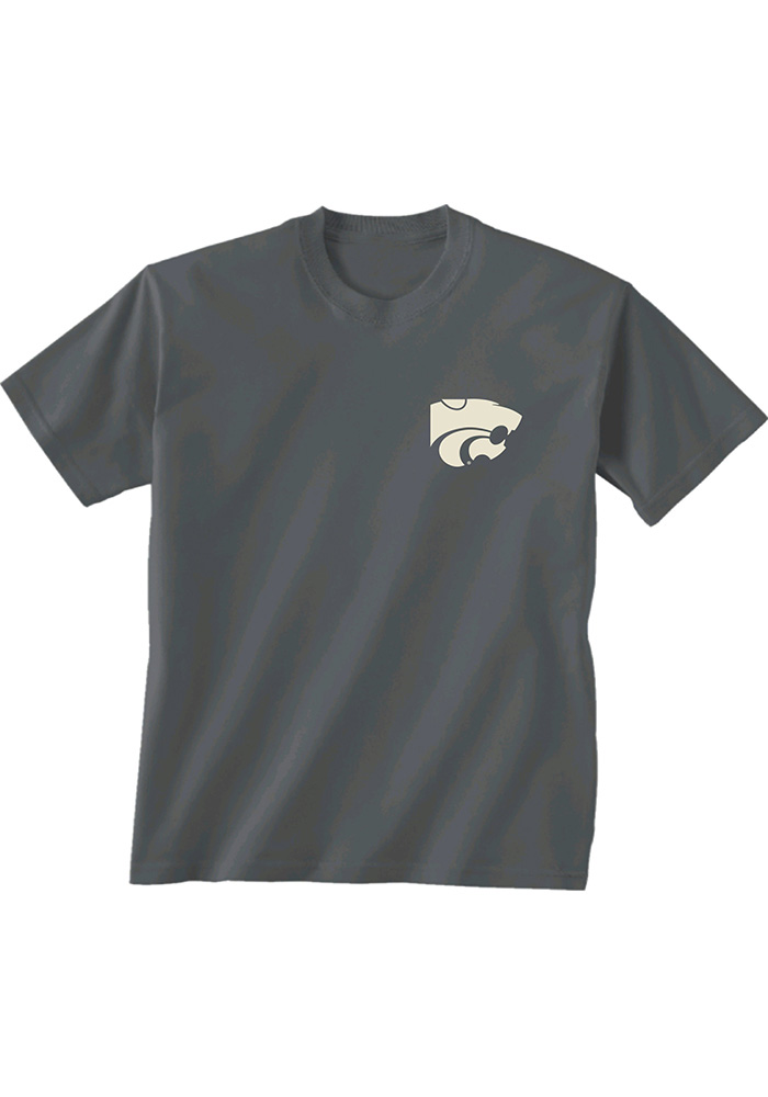 K-State Wildcats Oval Inset T Shirt - Charcoal