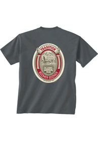 Oklahoma Sooners Oval Inset T Shirt - Charcoal