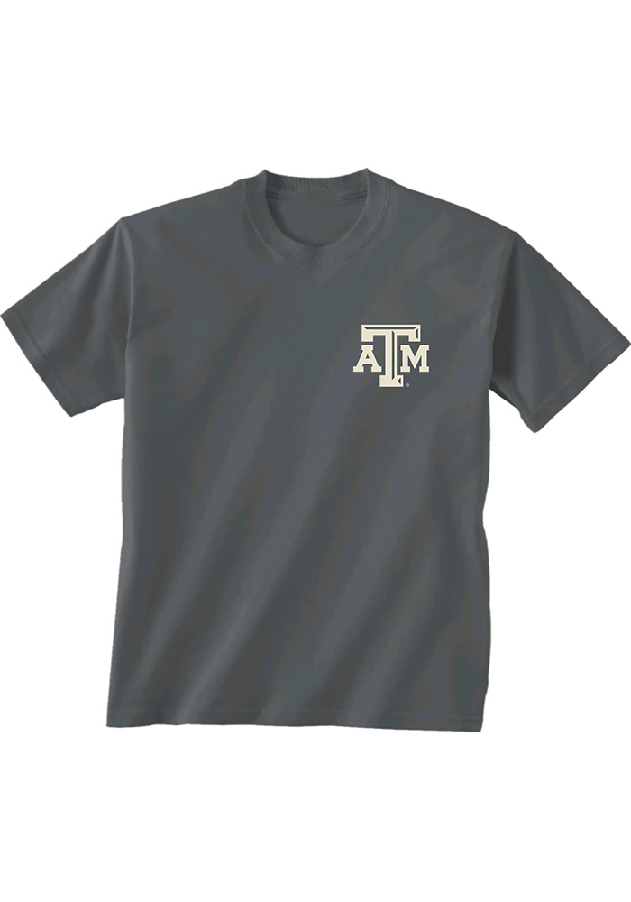 Texas A&M Aggies Charcoal Oval Inset Short Sleeve T Shirt - Image 2