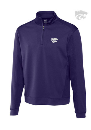 Cutter and Buck K-State Wildcats Mens Purple DryTec Edge 1/4 Zip Pullover