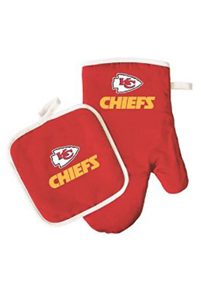 Kansas City Chiefs team color BBQ Grill Mit - Image 1