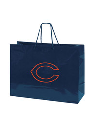 Chicago Bears Large Metallic Navy Blue Gift Bag