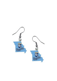 Kansas City Royals Womens State Earrings - Blue