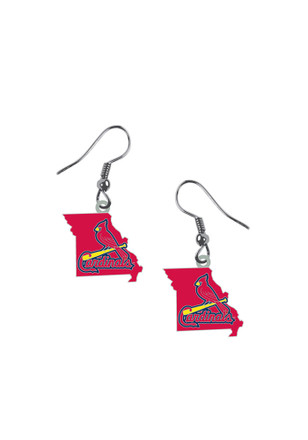 St Louis Cardinals State Womens Earrings
