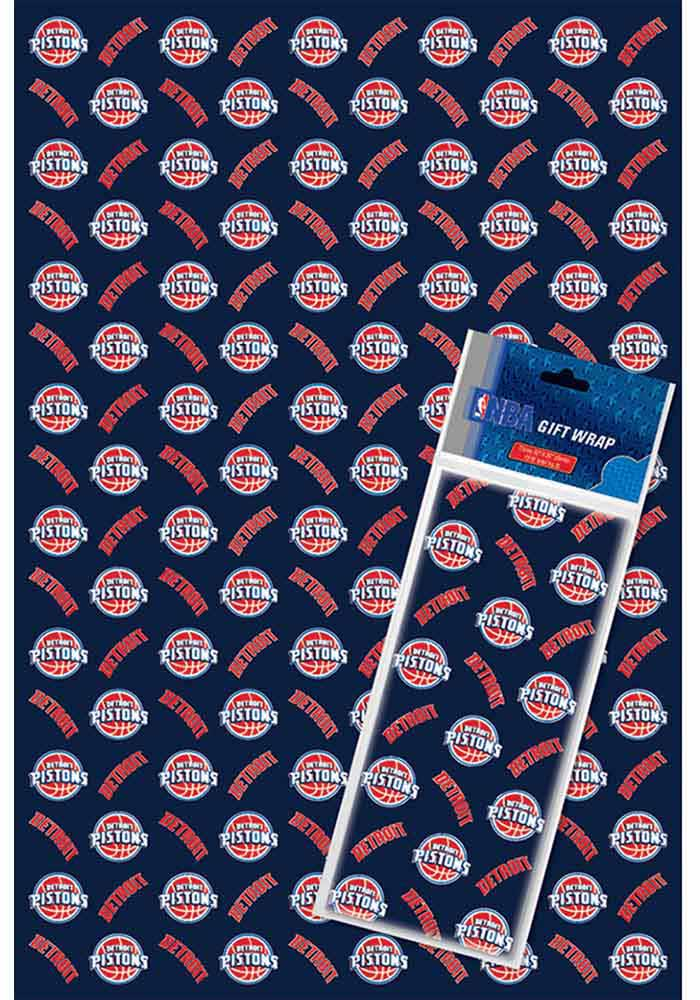 Detroit Pistons 2+1-Pack Flat Wrap Wrapping Paper - Image 1
