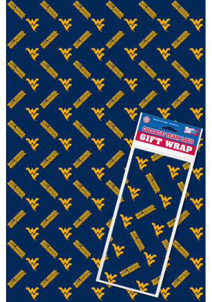 West Virginia Mountaineers 2+1-Pack Flat Wrap Wrapping Paper