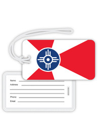 Wichita Red Wichita Flag Luggage Tag
