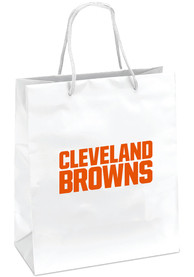 Cleveland Browns 10x12 Metallic White Gift Bag