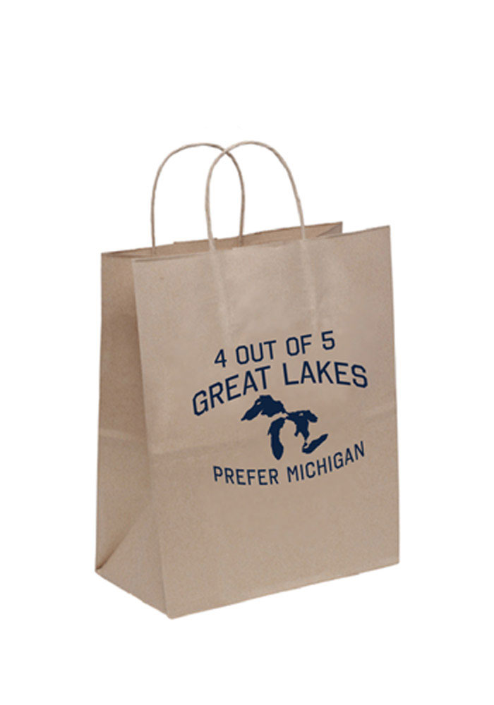 4 Out of 5 Great Lakes 10x13 Brown Eco Brown Gift Bag - Image 1