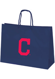 Cleveland Indians 16x2 Navy Large Metallic Navy Blue Gift Bag