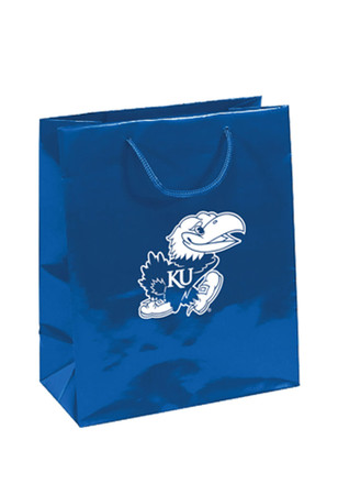Kansas Jayhawks 10x12 Blue Medium Metallic Blue Gift Bag